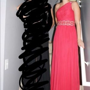 Watermelon Prom Dress with Open Back Size 1